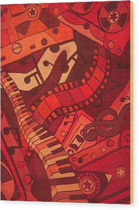 Musical Movements Wood Print by Chelsea Allen