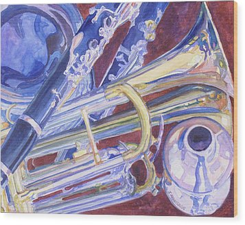 Musical Reflections Wood Print by Jenny Armitage