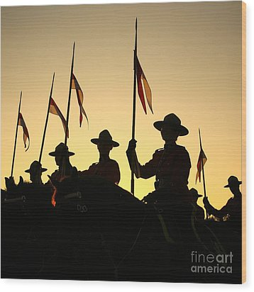 Musical Ride Wood Print by Chris Dutton