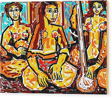 Musicians Wood Print by Anand Swaroop Manchiraju