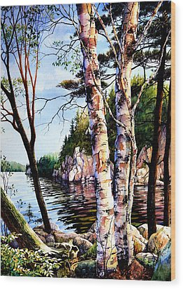 Muskoka Reflections Wood Print by Hanne Lore Koehler