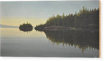 Muskoka Solitude Wood Print by Kenneth M  Kirsch
