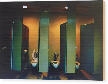Must Be The Mens Room Wood Print by John Schneider