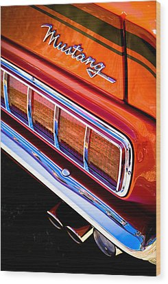 Mustang Mach 1 Wood Print by Phil 'motography' Clark