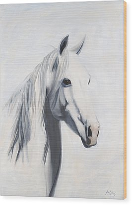 Mustang Mama Wood Print by Jack Atkins