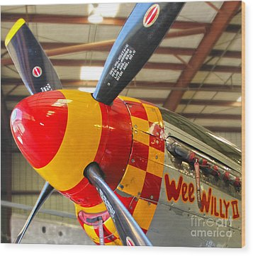 Mustang P-51d Wee Willie Wood Print by Gregory Dyer