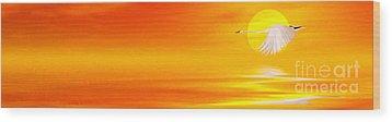 Mute Sunset Wood Print