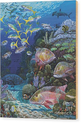 Mutton Reef Re002 Wood Print by Carey Chen