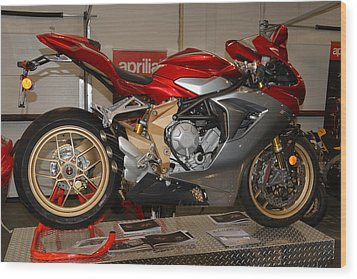 Mv Agusta Wood Print by Lawrence Christopher