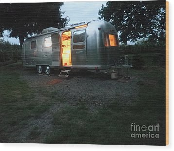 My Airstream Dream Wood Print