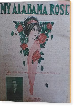 My Alabama Rose  Wood Print by Jeanette  Malinchok
