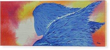 My Angel Wood Print by Marianna Mills