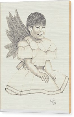 My Angel Wood Print by Patricia Hiltz