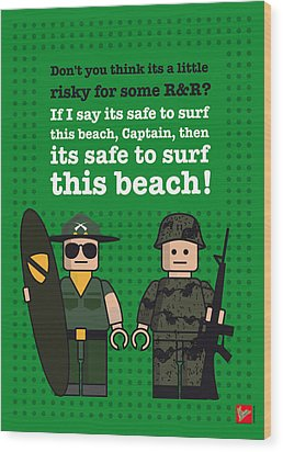 My Apocalypse Now Lego Dialogue Poster Wood Print by Chungkong Art