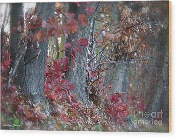 My Autumn Nostalgia. Wood Print by  Andrzej Goszcz