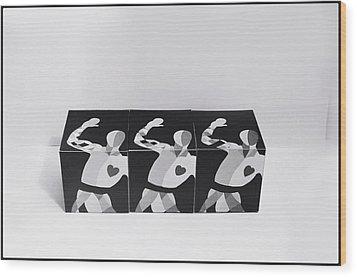 My Bauhaus Harlequin Wood Print by Charles Stuart