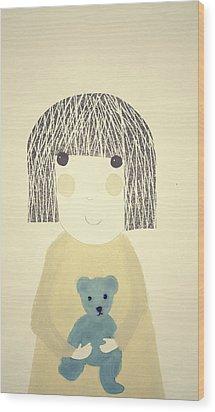 My Bear And Me Wood Print by Katy McFall