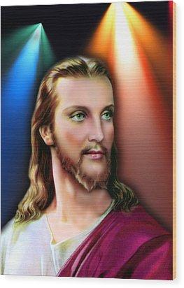 My Beautiful Jesus 3 Wood Print by Karen Showell