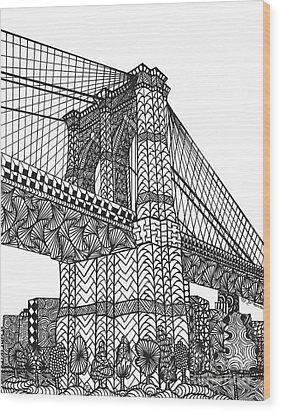 My Beloved Brooklyn Bridge Wood Print