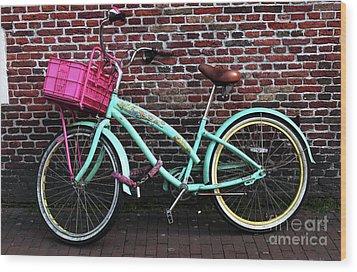 My Bike Wood Print by John Rizzuto