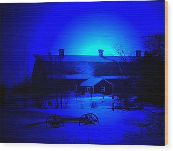 My Blue Haven Wood Print by Larry Trupp