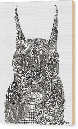 My Buddy - Boxer Wood Print by Dianne Ferrer
