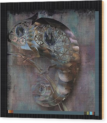 Chameleon - Vspgr01b Wood Print by Variance Collections