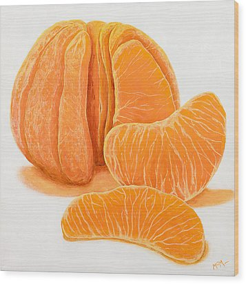 My Clementine Wood Print by Garry McMichael