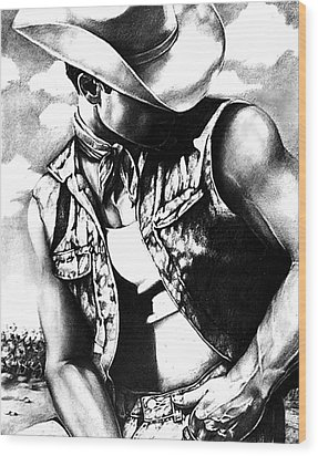 My Cowboy Man Wood Print by RjFxx at beautifullart com