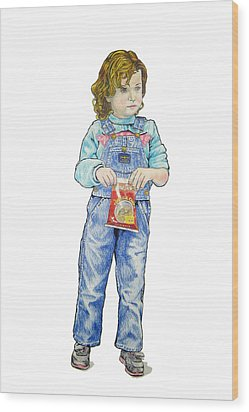 My Daughter Talli At Age 3 Wood Print by Sam Shacked
