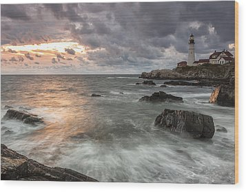 My Day Begins Wood Print by Jon Glaser