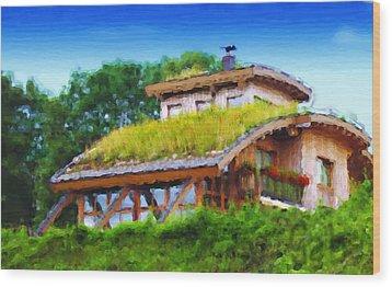 My Dream House Wood Print by Gabriel Mackievicz Telles