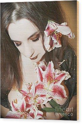 My Dreams In Bloom Wood Print by Heather King