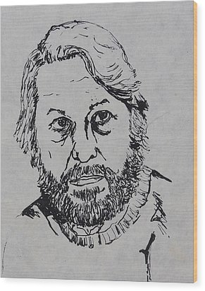 My Father 1973 Wood Print by Erika Chamberlin