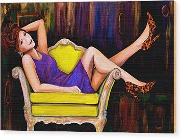 My Favorite Girl Wood Print by Debi Starr