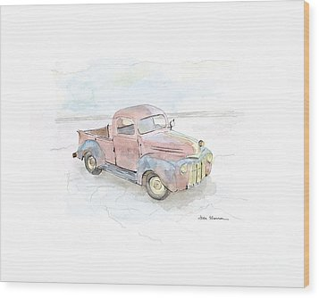 My Favorite Truck Wood Print by Joan Sharron