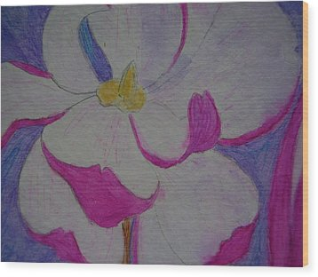 My Flower Wood Print by Yvette Pichette