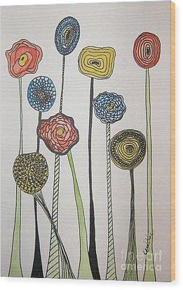 My Garden Wood Print by Marcia Weller-Wenbert