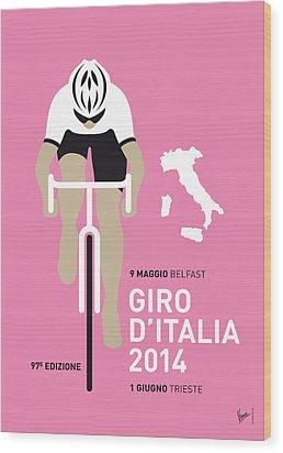 My Giro D Italia Minimal Poster 2014 Wood Print by Chungkong Art