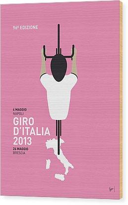 My Giro D'italia Minimal Poster Wood Print by Chungkong Art