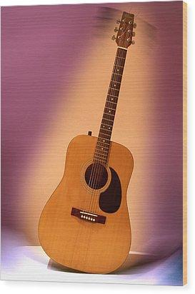 My Guitar Wood Print by Alessandro Della Pietra