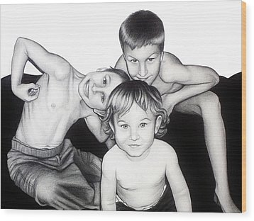 My Guys In 2010 Wood Print by Danielle R T Haney