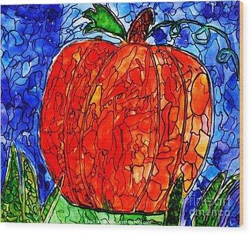 My Halloween Pumpkin Wood Print by PainterArtist FIN
