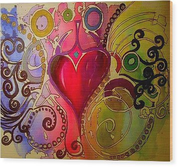 My Heart Wood Print