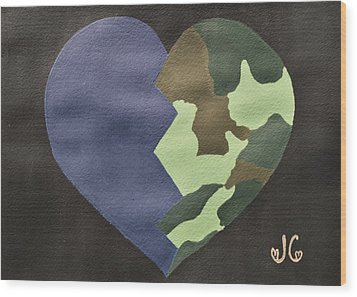 My Heart Wood Print by Jessica Cruz