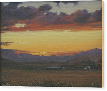 My Home's In Montana Wood Print by Mia DeLode