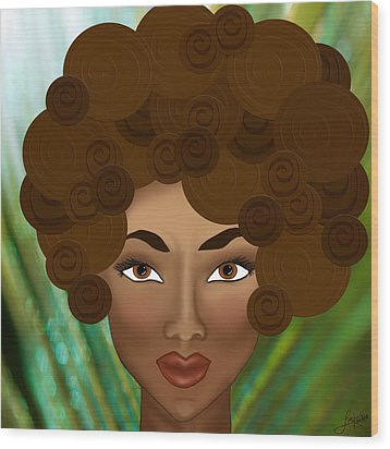 Wood Print featuring the photograph My Inner Nubian Goddess by Lisa Knechtel