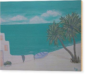 My Island Wood Print by Inge Lewis