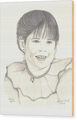 My Little Girl Wood Print by Patricia Hiltz