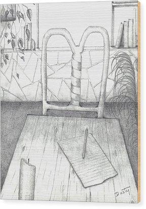 My Loft Wood Print by Dusty Reed